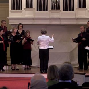 Cappella Clausura performs chants of Kassia, motets by Copland, and a cappella works of Rebecca Clarke